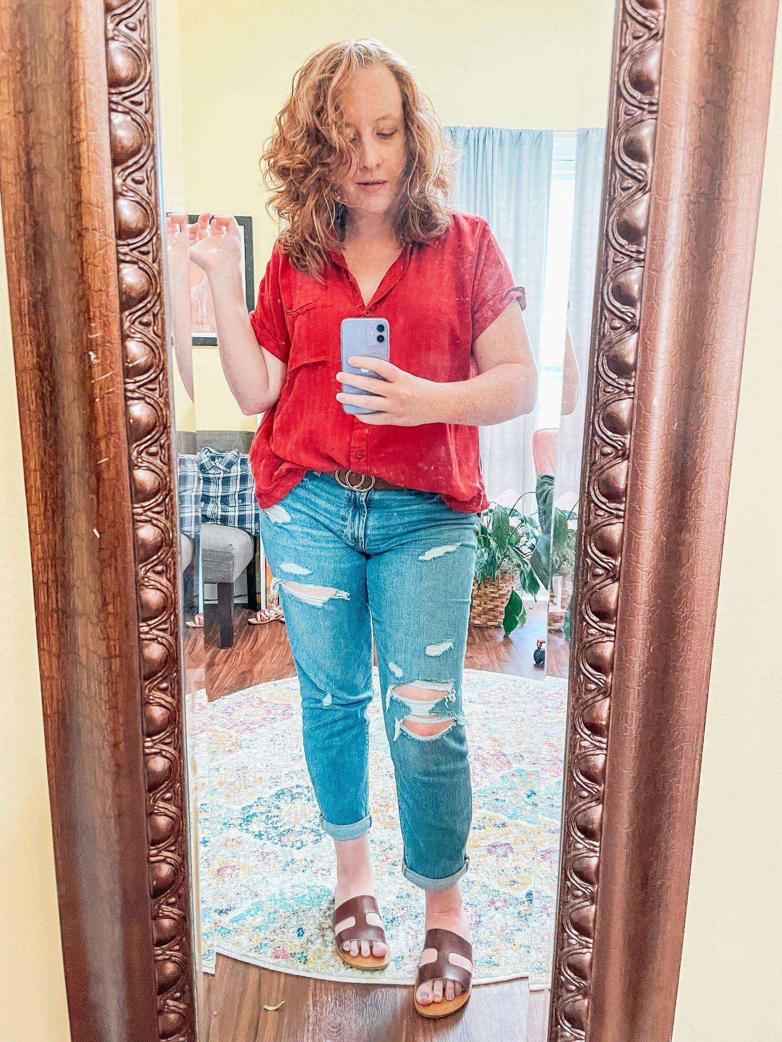 orange-camp-shirt-boyfriend-jeans