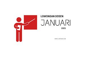 Lowongan Dosen Januari 2021