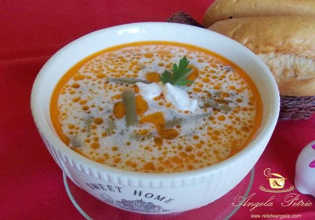 Supa de fasole verde congelata
