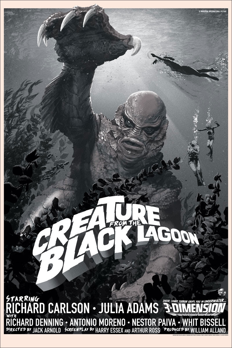 INSIDE THE ROCK POSTER FRAME BLOG: Stan & Vince Creature ... Creature From The Black Lagoon Mondo Poster