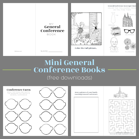 Mini LDS General Conference Books (free downloads)