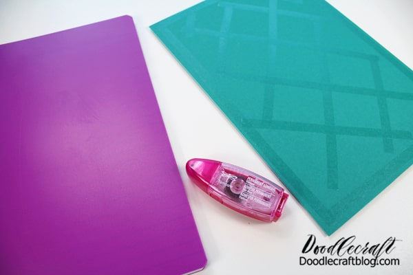 Then use a bunch of the permanent adhesive roller to attach the cover to the notebook.