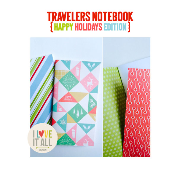 #midori #travelers notebook #christmas #inserts #planner #journal