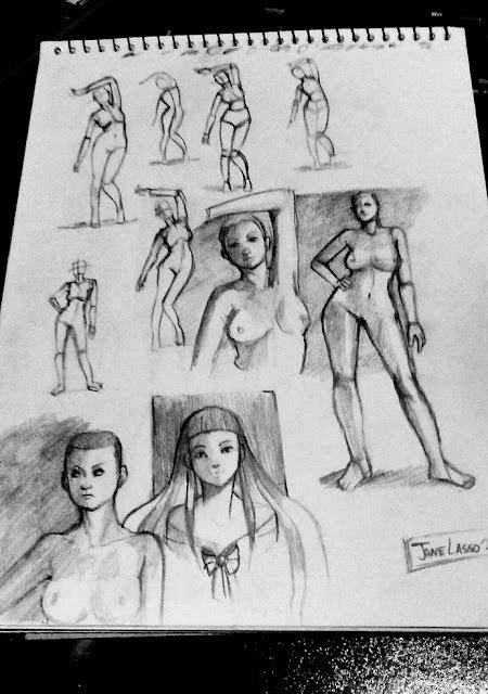 sketches de anatomía