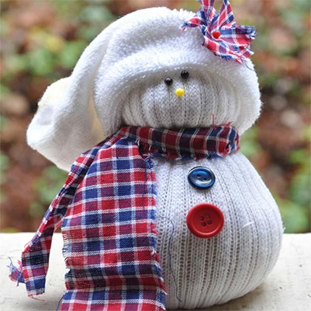 DIY boneka dari kaos kaki snow man