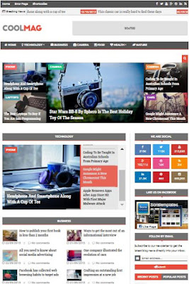 Cool Mag Adsense Responsive Blogger Templates Without Footer Credit