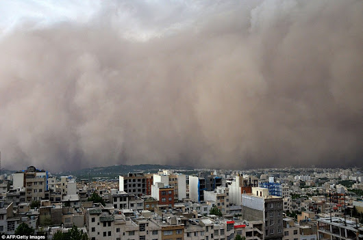 Weather wars? Iran warns it's enemies Iraq, Saudi Arabia, Jordan and Syria to prevent dust storms reducing it's oil production
