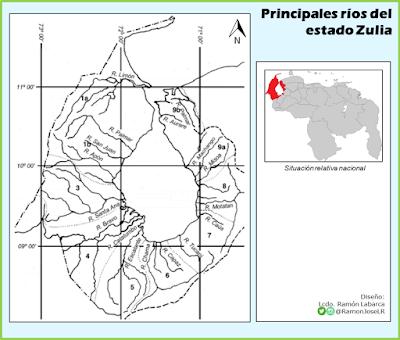 Principales ríos del estado Zulia