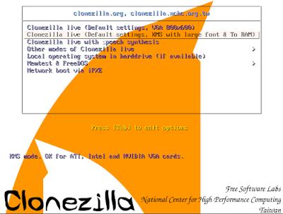 Clonezilla - herramienta de clonación de discos duros