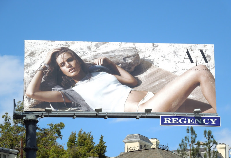 Armani Exchange Summer 2013 beach billboard