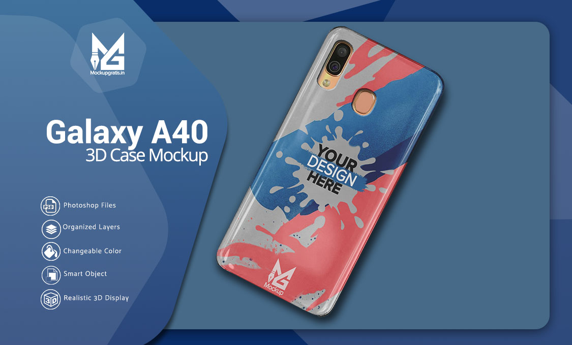 Mockup Case Samsung A40 PSD Gratis