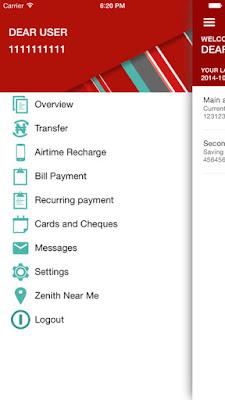 zenith bank internet banking app