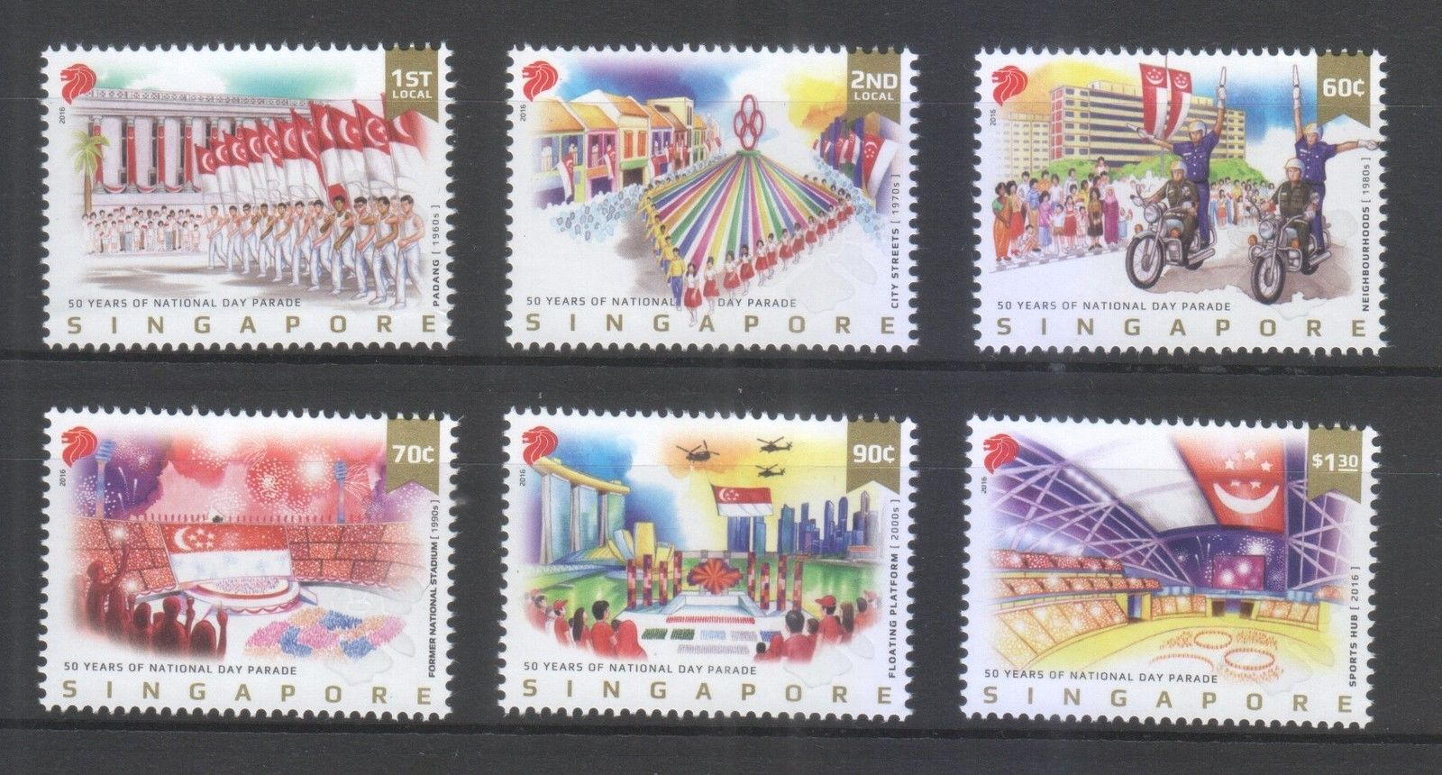 Singapore National Day 2016 NDP FDC Stamps 50 Years of Parade Mint, S$4.17