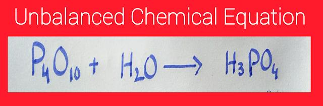 unbalanced chemical equation example