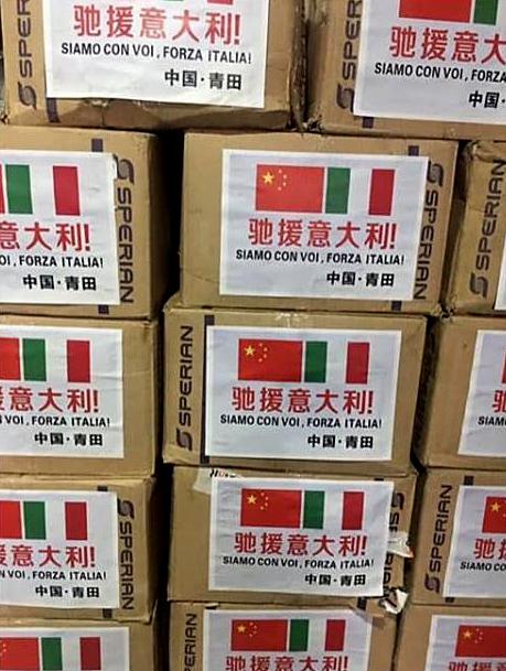 Arrivano le mascherine dalla Cina