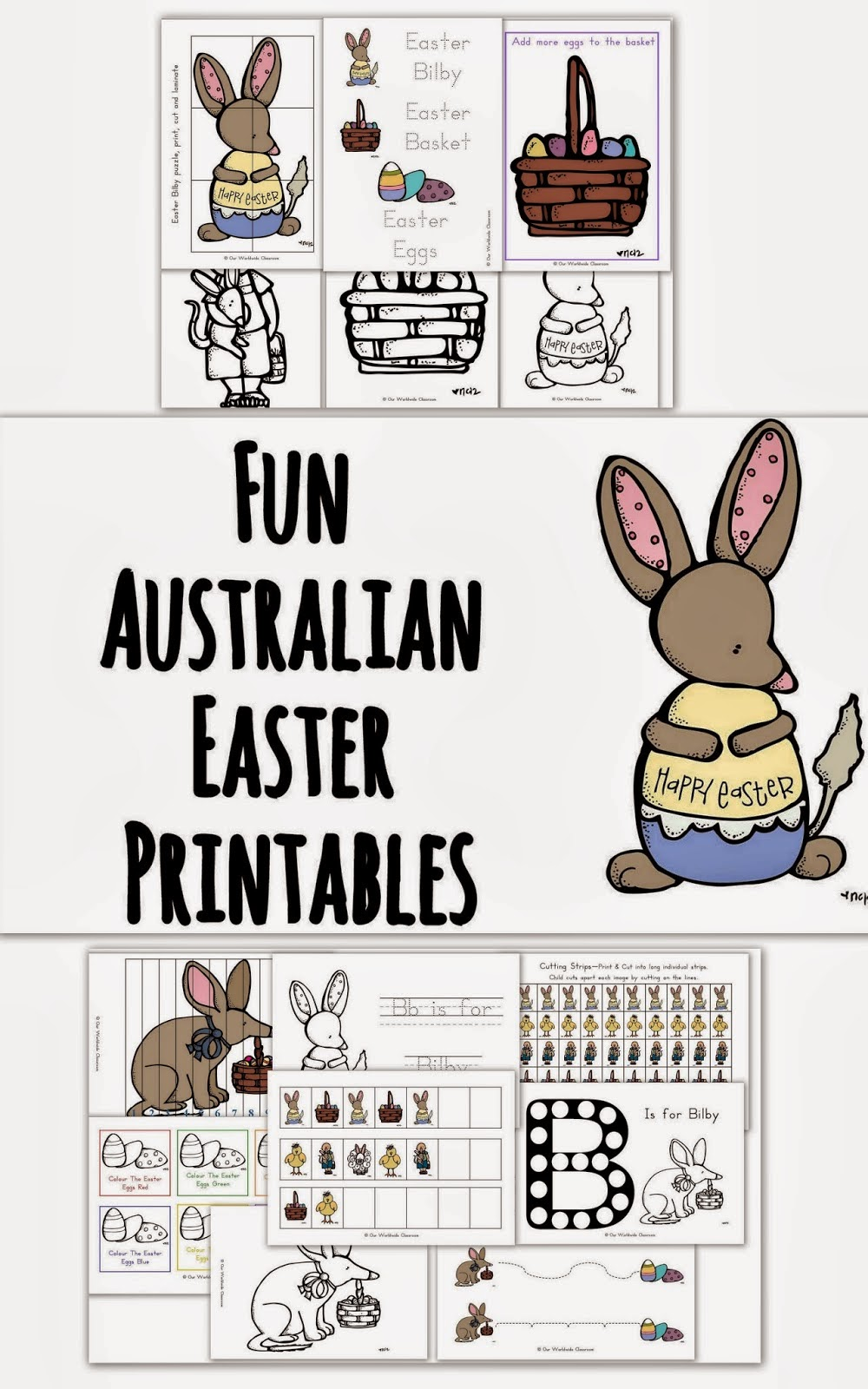 free easter printable activities bilby easter printable activities