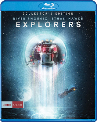 Cover art for Shout Select's new Blu-ray of Joe Dante's EXPLORERS!