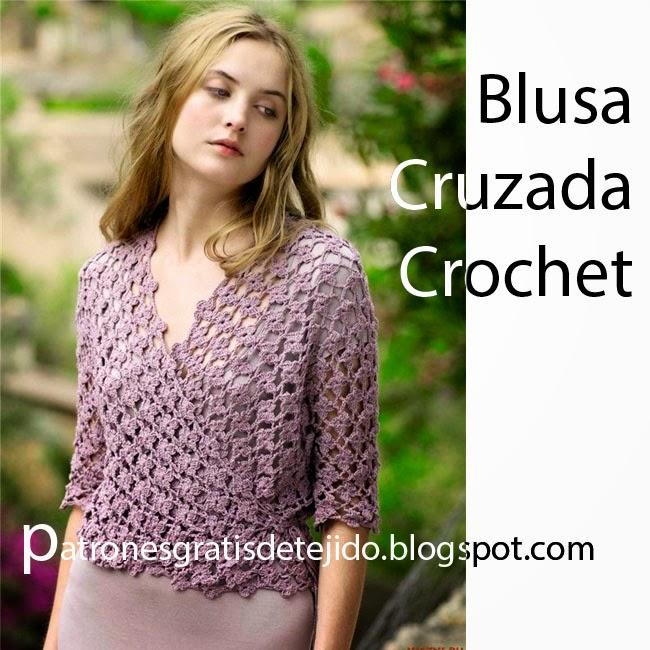 61741902dfb60 20 Patrones de Blusas para Tejer a Crochet   Colección