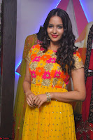 Pujitha in Yellow Ethnic Salawr Suit Stunning Beauty Darshakudu Movie actress Pujitha at a saree store Launch ~ Celebrities Galleries 028.jpg