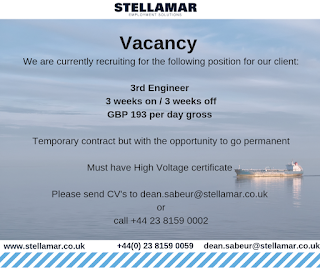 SEAMAN JOB INFO - Company updated seaman vacancy are recruiting engine officer join onboard December 2018 in UK.