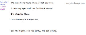 Love Story Lyrics Taylor Swift