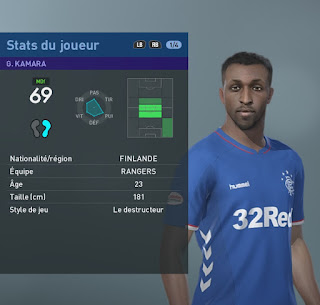 PES 2019 Faces Glen Kamara by TiiToo Facemaker