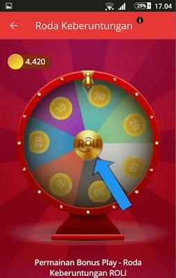Permainan di Aplikasi RoLi