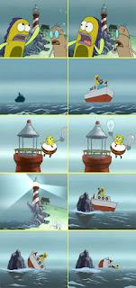 Polosan meme spongebob dan patrick 84 - pahlawan spongebob terbang dengan celana yang menggelembung
