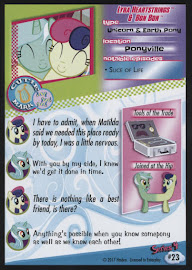 My Little Pony Lyra Heartstrings & Bon Bon Series 4 Trading Card