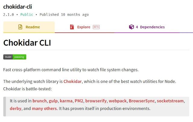 chokidar CLI