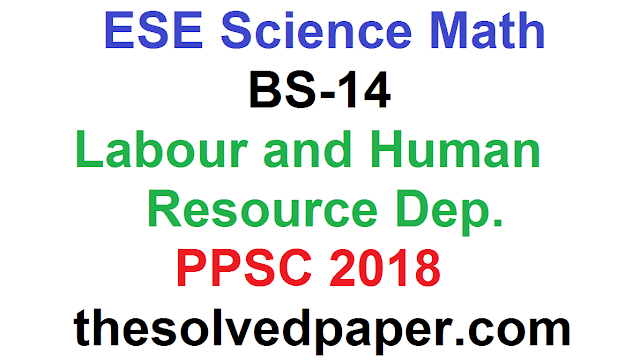 Past Papers of ESE Science Math 2019