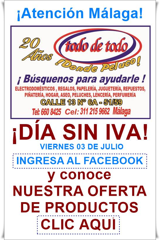 Viernes 3 de Julio... Gran oportunidad para realizar tus compras ¡Sin IVA! - Invita Almacén Todo de Todo