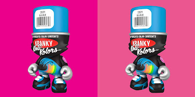ComplexLand Exclusive Baja Blue Kranky SuperJanky Vinyl Figure by Sket One x Superplastic