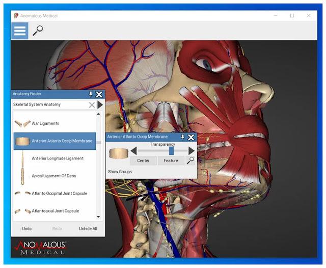Anomalous Medical  :  Διαδραστική πλατφόρμα 3D ανατομίας