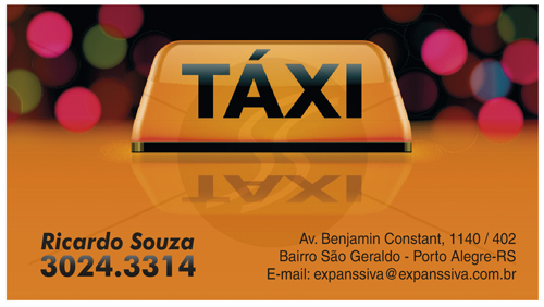cartao de visita taxistas 05 - Cartão de visita criativo para taxistas