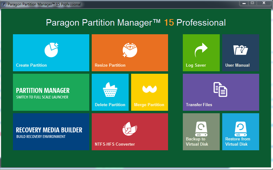 Paragon Partition Manager 15 Professional 10.1.25.779 poster box cover