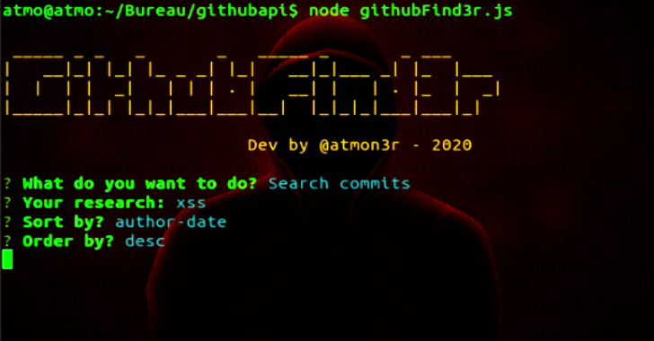 GithubFind3r : Fast Command Line Repo/User/Commit Search Tool