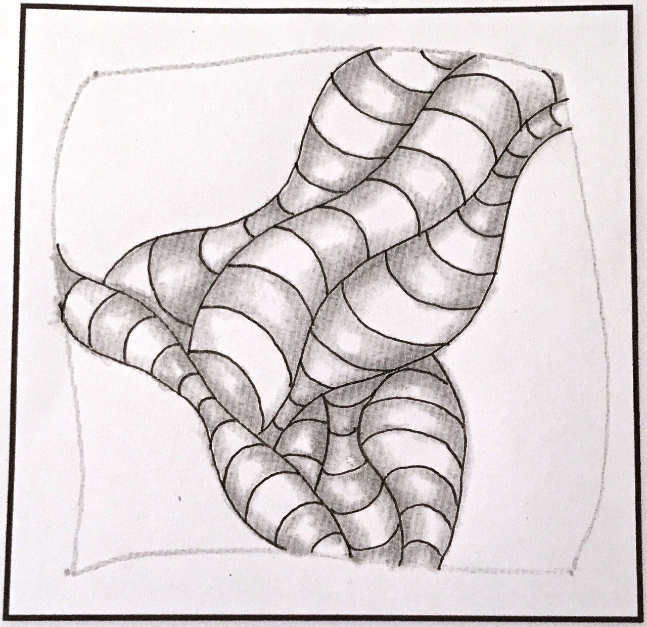 How To Draw The Zentangle Pattern Cuddles With Shading