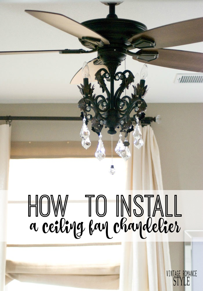 How to Install a Light Kit for a Ceiling Fan    New Year New Room     BUT  that isn t an option so this light kit hits two birds with one stone   A ceiling fan for scorching temps and the girly sparkly sophisticated  chandelier