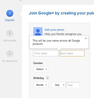 setup blogger ke google plus