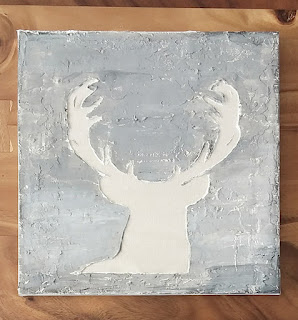 Deer Art | DIY | wall art | tutorial | silhouette | home decor