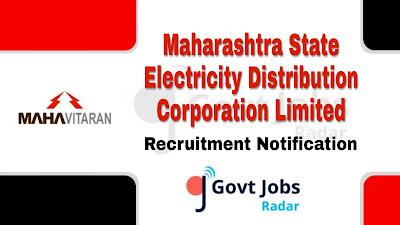 MAHADISCOM Recruitment 2019, govt jobs in maharashtra, maharashtra govt jobs, Latest MAHADISCOM Recruitment update