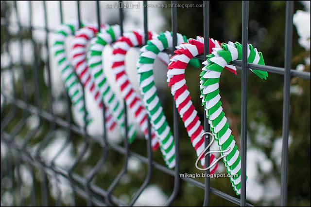 510. Świąteczny laski cukrowe z origami / 3d origami candy sticks