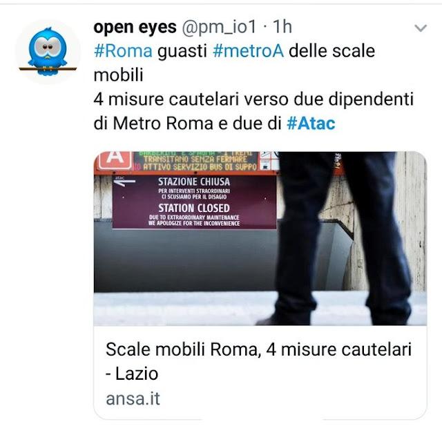 Situazione del trasporto pubblico di Roma giovedì 12 settembre