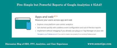 Reports of Google Analytics 4 - GA4