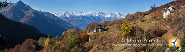Foto panoramica dall'alpe Blitz