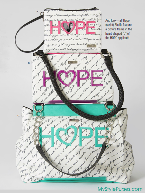 The Hope Script Shells for Miche Bags from MyStylePurses.com