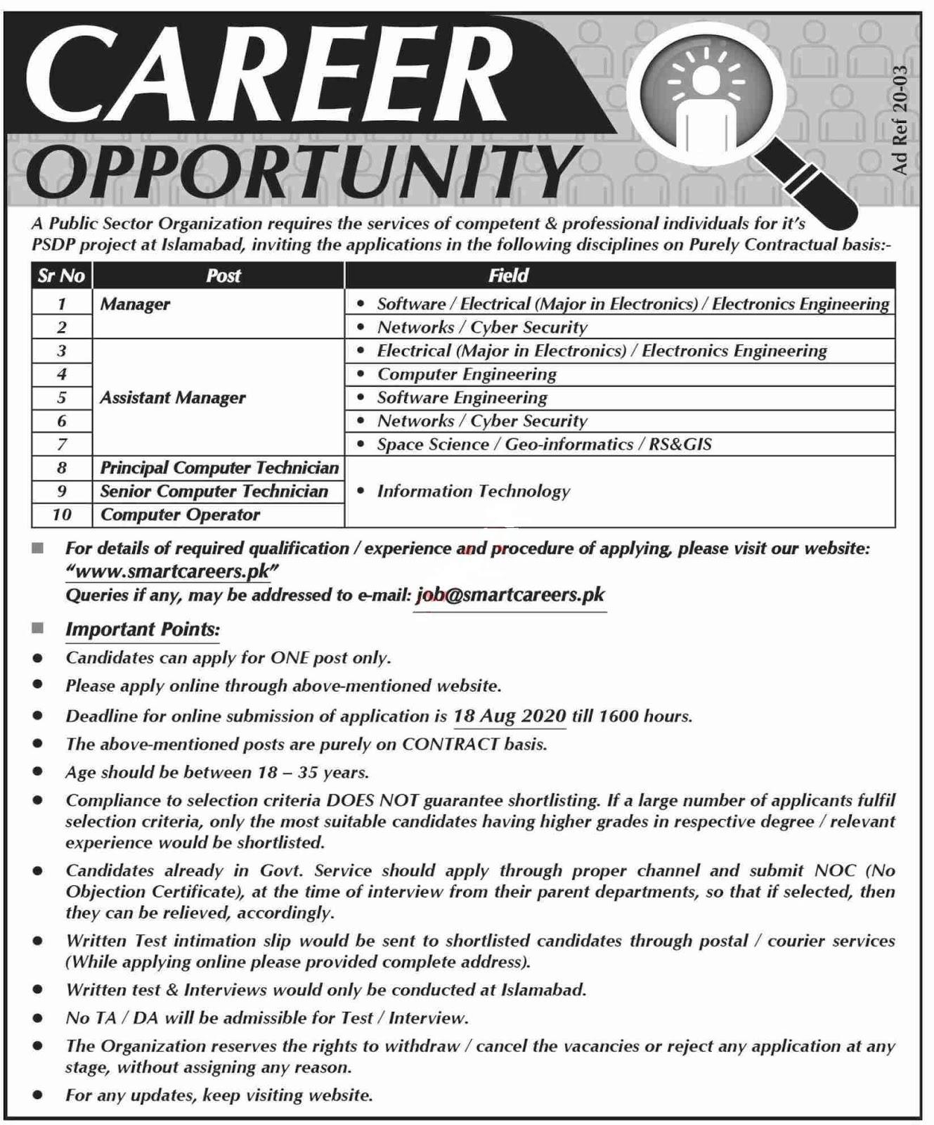 Latest Public Sector Organization Jobs 2020