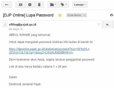Link Ganti Password Efilling melalui EFIN-Guru Pantura