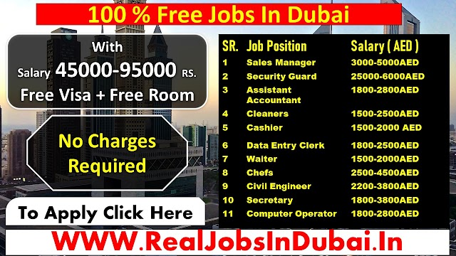 Jobs In Dubai For Indians and all Nationalities 2021